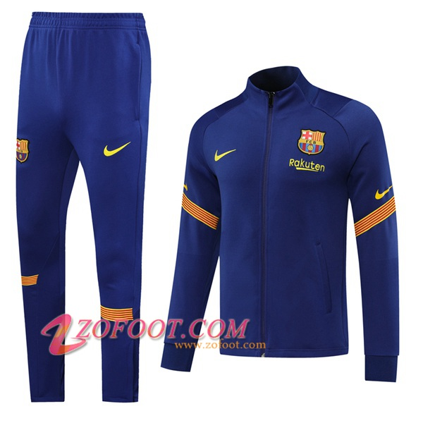 Ensemble Survetement de Foot - Veste FC Barcelone Bleu 2020/2021