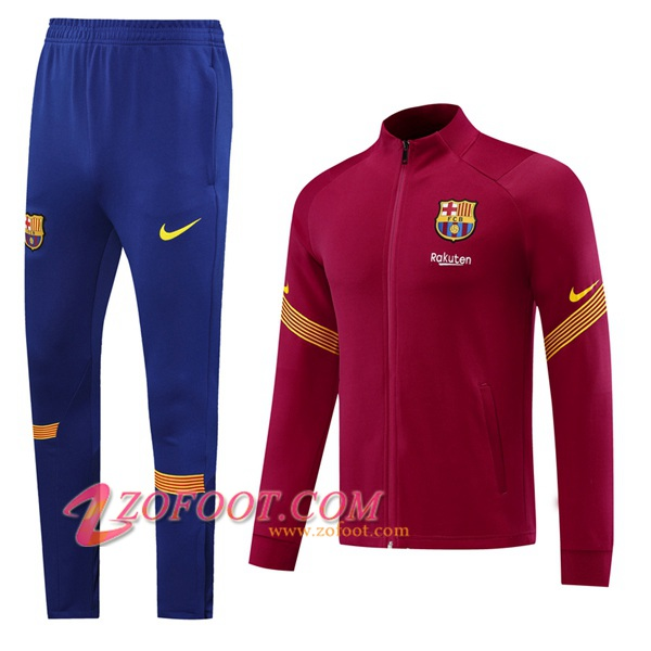 Ensemble Survetement de Foot - Veste FC Barcelone Rouge 2020/2021