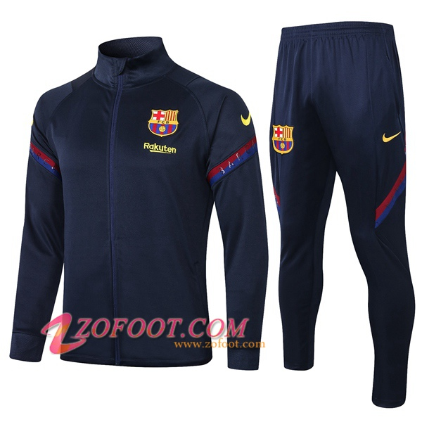 Ensemble Survetement de Foot - Veste FC Barcelone Bleu Royal 2020/2021
