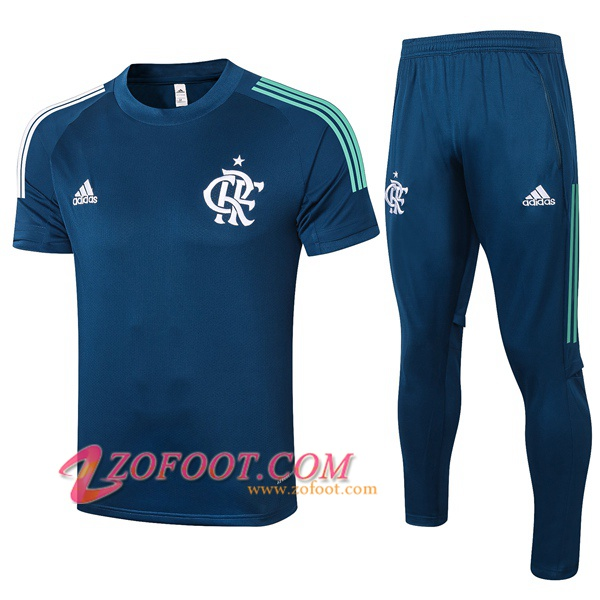Ensemble Training T-Shirts Flamengo + Pantalon Bleu Royal 2020/2021