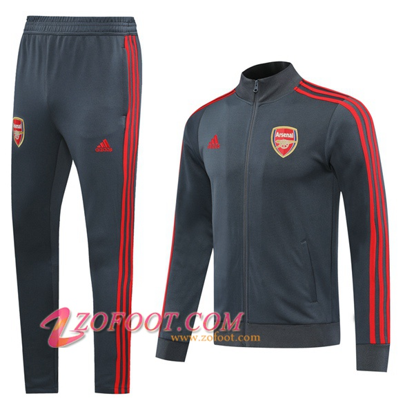 Ensemble Survetement Foot - Veste Arsenal Gris 2020/2021
