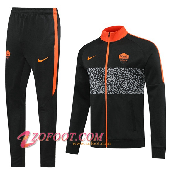 Ensemble Survetement Foot - Veste AS Roma Noir 2020/2021